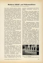 Moderne Schleif- und Poliermaschinen