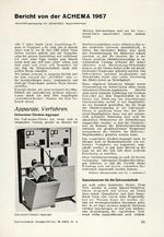 Bericht von der ACHEMA 1967