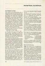 Aus der Praxis – für die Praxis 08/1967