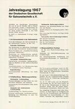 Jahrestagung 1967 der Deutschen Gesellschaft für Galvanotechnik e.V.