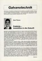 PublicityInvestition in die Zukunft