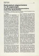Elektrolytisch abgeschiedene Co-W-Legierungen  im Hinblick auf kompositionsmodulierte CoWx/CoWy-Multischichten