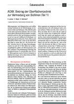 AGXX: Beitrag der Oberflächentechnik zur Vermeidung von Biofilmen (Teil 1)