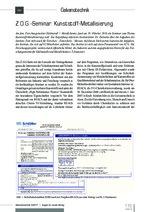Z.O.G.-Seminar: Kunststoff-Metallisierung