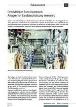 Drei Millionen Euro Investition: Anlagen für Bandbeschichtung erweitert