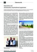 Deutsches und chinesisches Unternehmen kooperieren