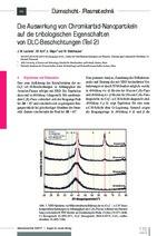 Die Auswirkung von Chromkarbid-Nanopartikeln auf die tribologischen Eigenschaften von DLC-Beschichtungen (Teil 2)